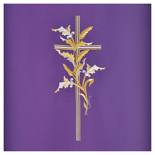 Voile de lutrin croix épis en tissu de polyester 6