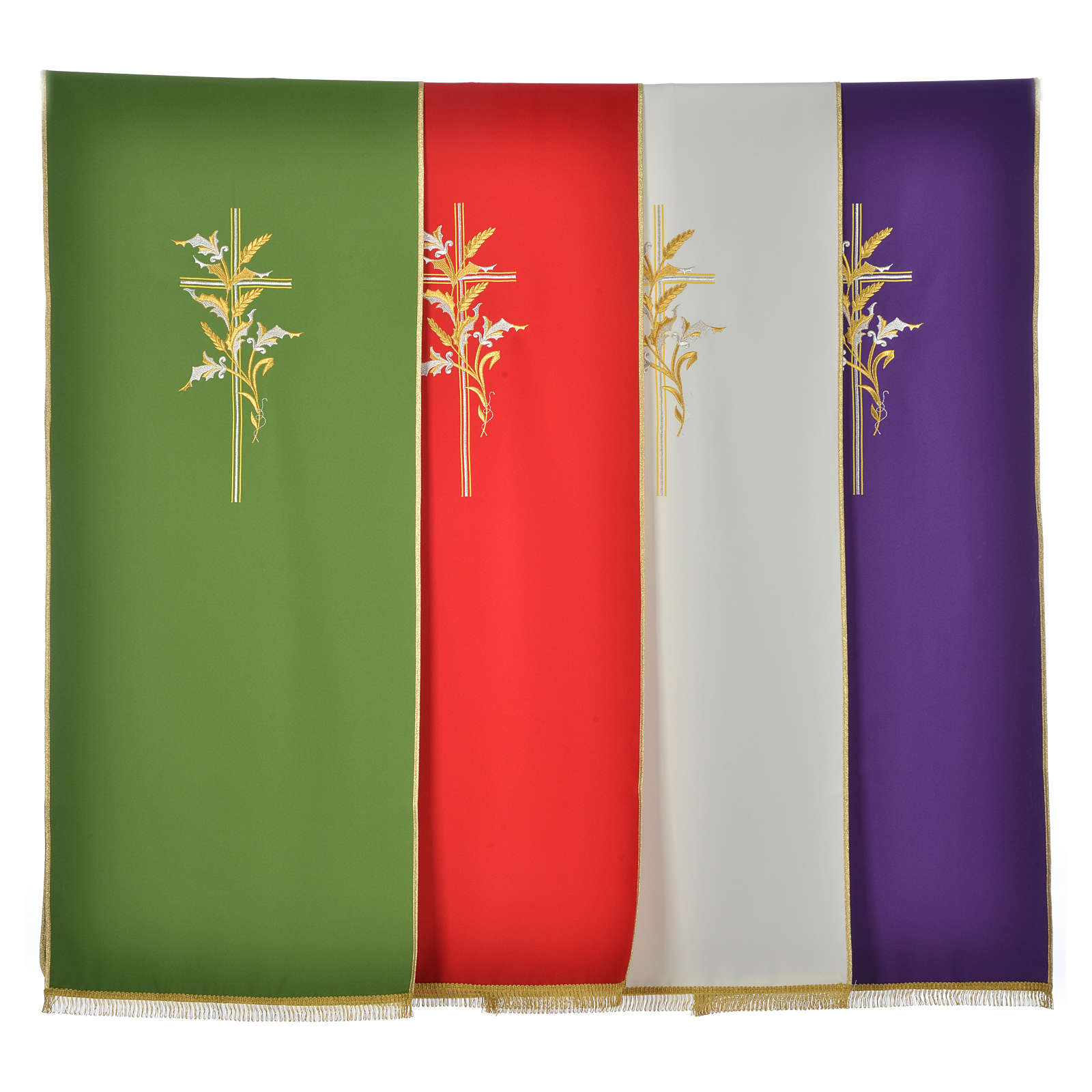 Cross & ears of wheat pulpit cover, polyester 4