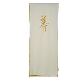 Cross & ears of wheat pulpit cover, polyester s3