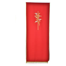 Cross & ears of wheat pulpit cover, polyester s4