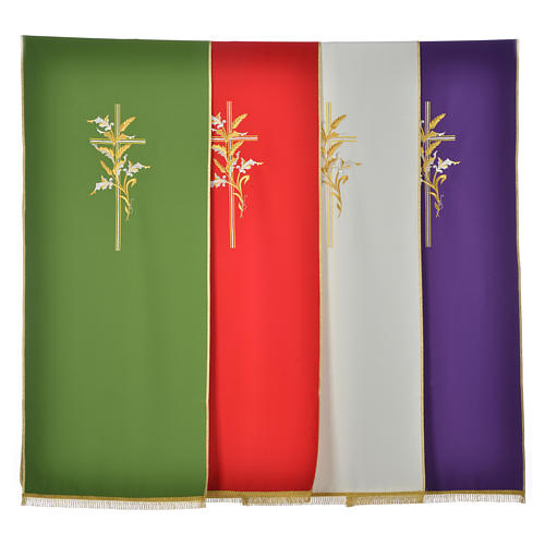 Cross & ears of wheat pulpit cover, polyester 1