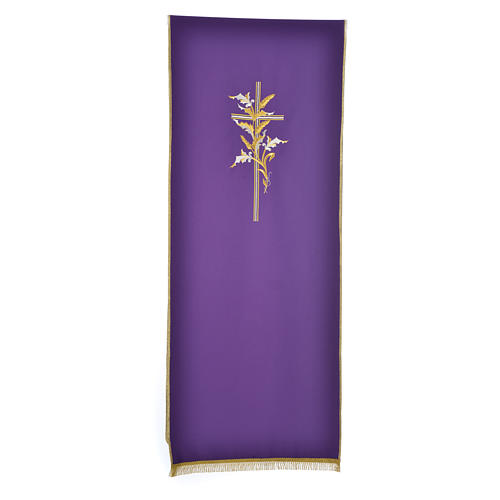 Cross & ears of wheat pulpit cover, polyester 2