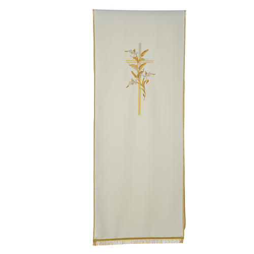 Cross & ears of wheat pulpit cover, polyester 3