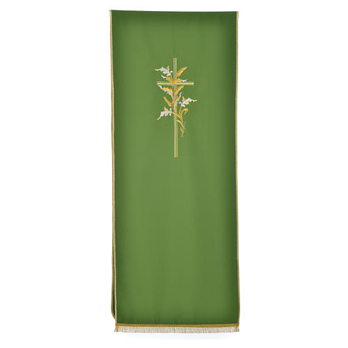 Cross & ears of wheat pulpit cover, polyester 5