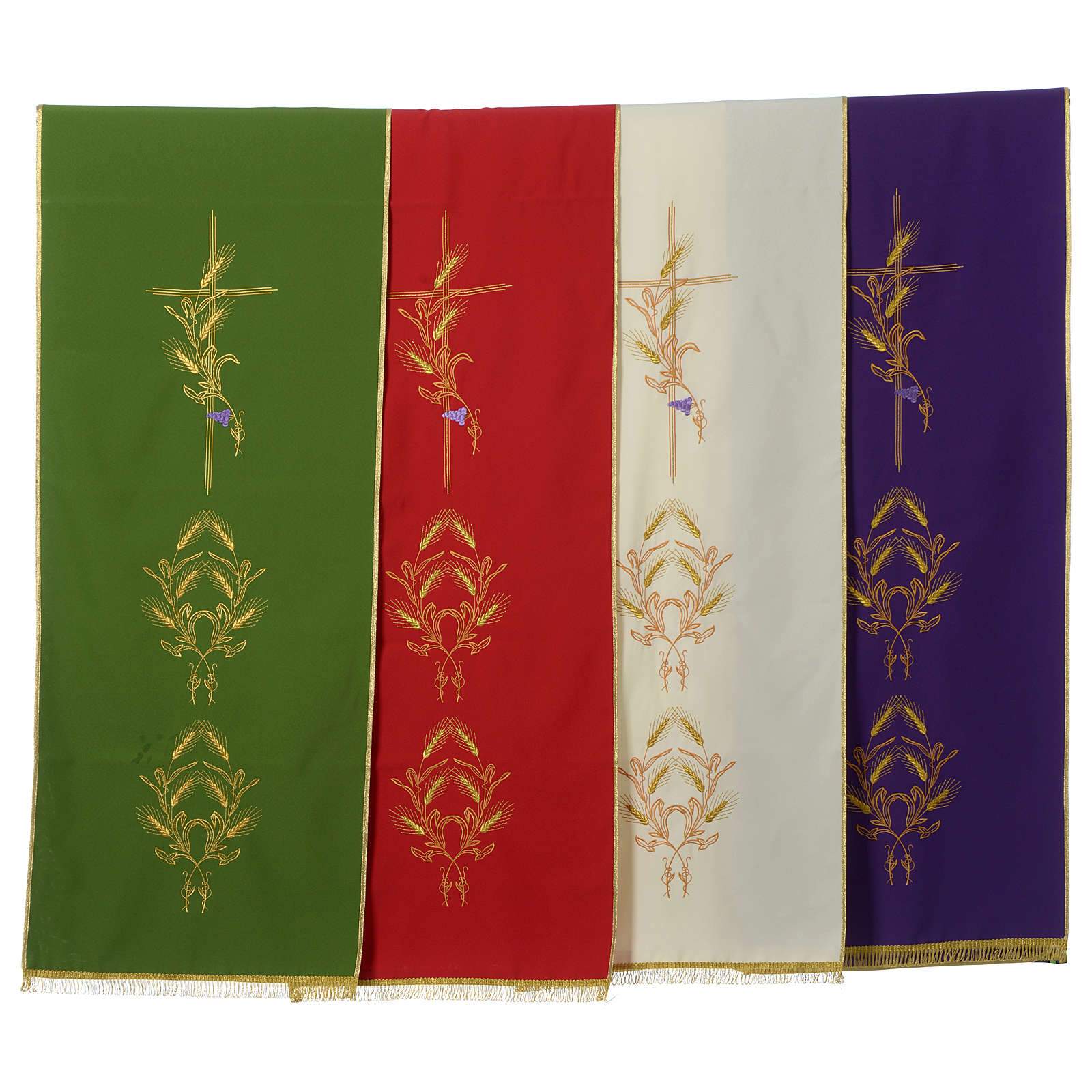 Lectern Cover in polyester, cross, ears of wheat 4
