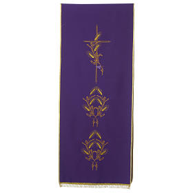 Lectern Cover in polyester, cross, ears of wheat s5