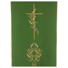 Lectern Cover in polyester, cross, ears of wheat s2