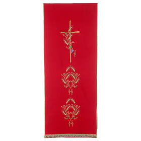 Lectern Cover in polyester, cross, ears of wheat s4