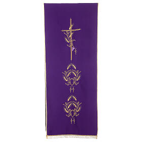 Lectern Cover in polyester, cross, ears of wheat s6