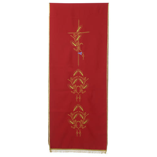 Lectern Cover in polyester, cross, ears of wheat 3