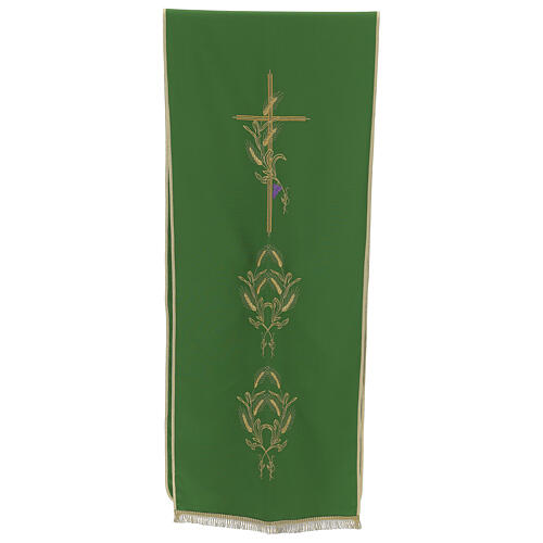 Lectern Cover in polyester, cross, ears of wheat 1