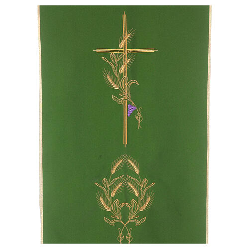 Lectern Cover in polyester, cross, ears of wheat 2
