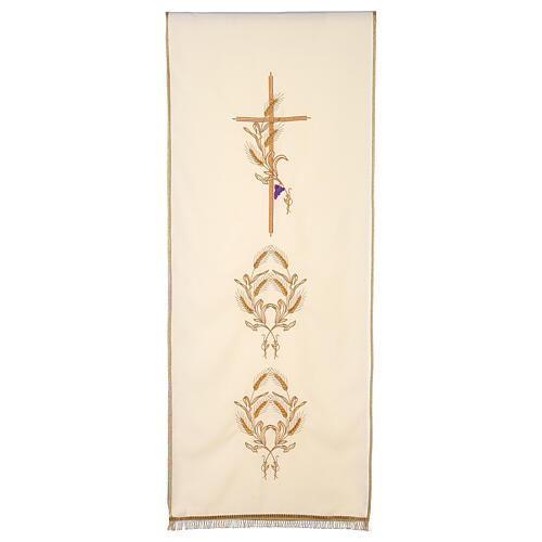 Lectern Cover in polyester, cross, ears of wheat 5