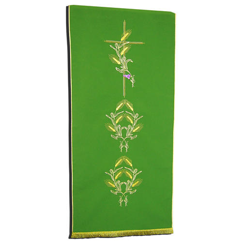 Pulpit Cover With Symbols Of Cross And Ears Of Wheat Online Sales