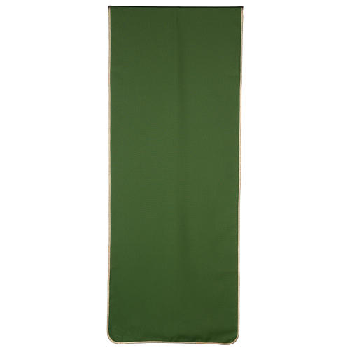 Lectern Cover in polyester, cross, Alpha Omega, flames 3
