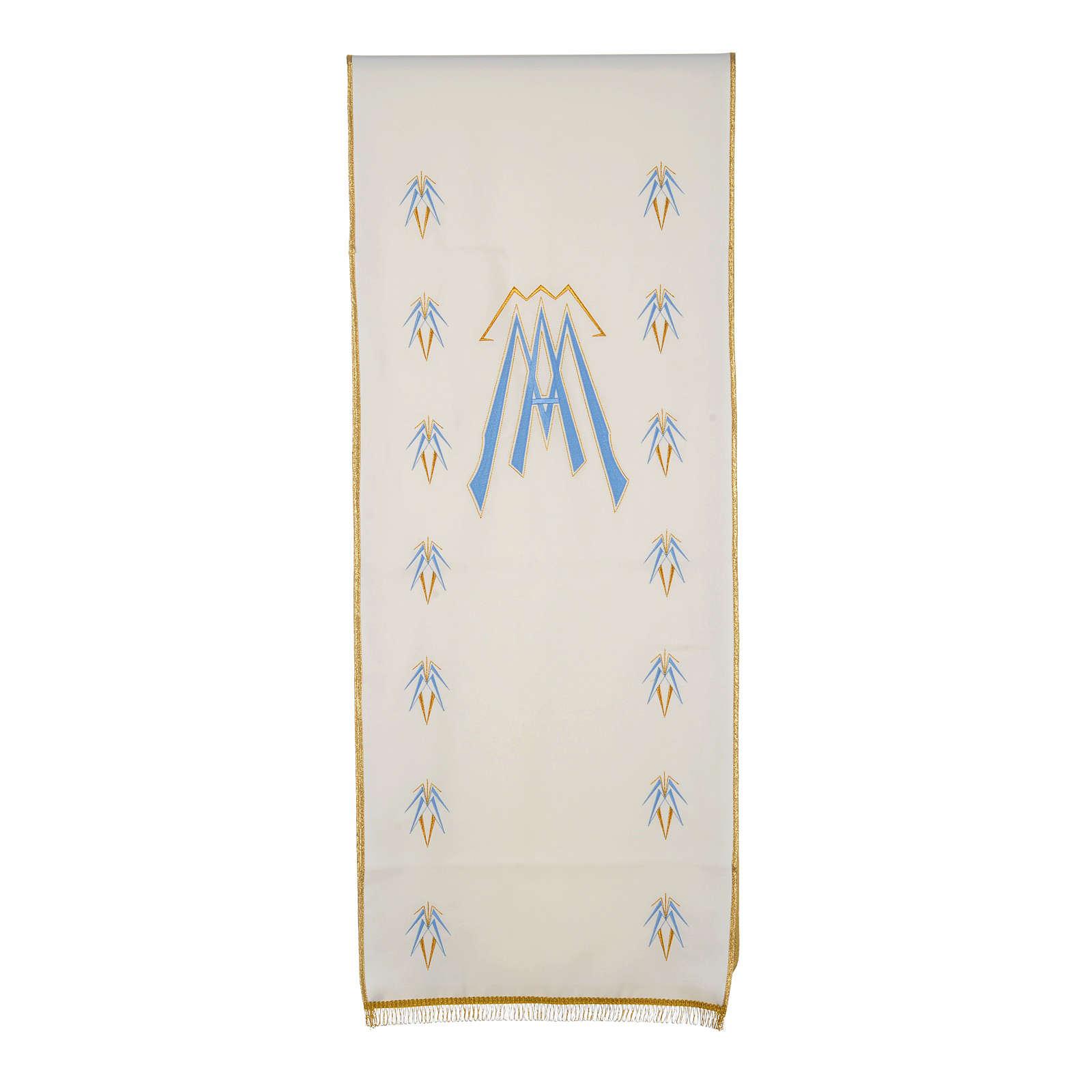 Coprileggio 100% poliestere simbolo mariano 4