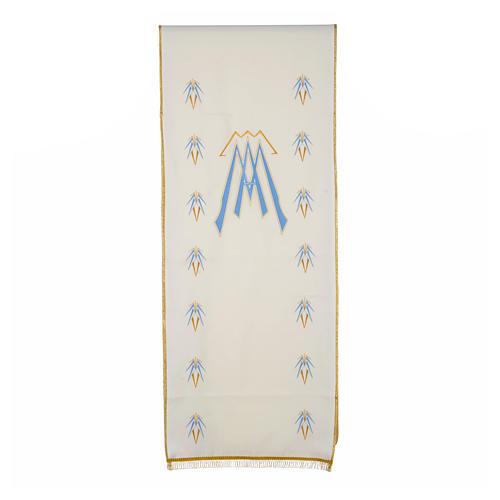 Coprileggio 100% poliestere simbolo mariano 1