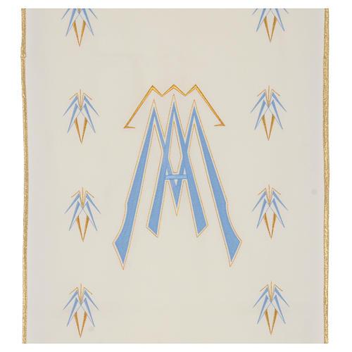 Coprileggio 100% poliestere simbolo mariano 2