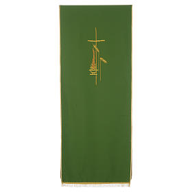 Lectern Cover in polyester, cross, flames, ears of wheat s2