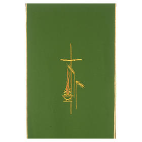 Lectern Cover in polyester, cross, flames, ears of wheat s3