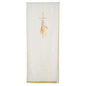 Lectern Cover in polyester, cross, flames, ears of wheat s5