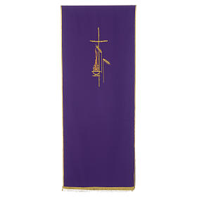 Lectern Cover in polyester, cross, flames, ears of wheat s6