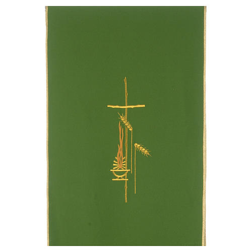 Lectern Cover in polyester, cross, flames, ears of wheat 3