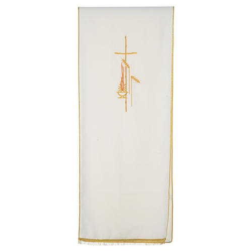 Lectern Cover in polyester, cross, flames, ears of wheat 5