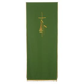 Voile de lutrin croix, flamme et épis 100% polyester s2