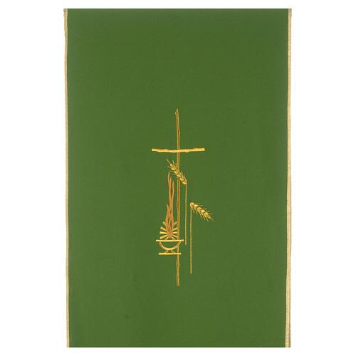 Voile de lutrin croix, flamme et épis 100% polyester 3