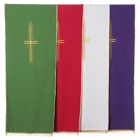 Lectern Cover in polyester with stylized cross s1