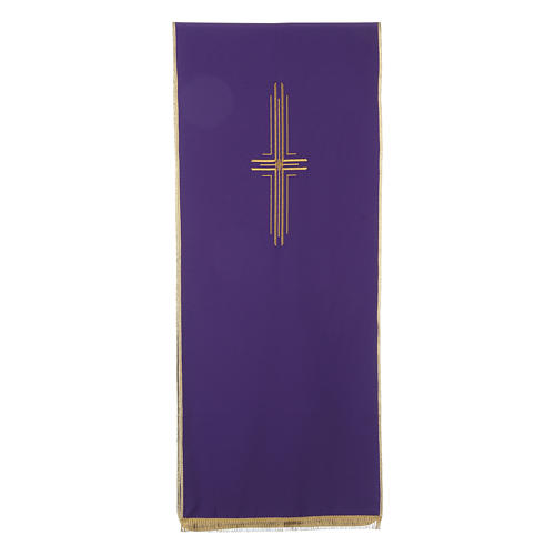 Lectern Cover in polyester with stylized cross 5