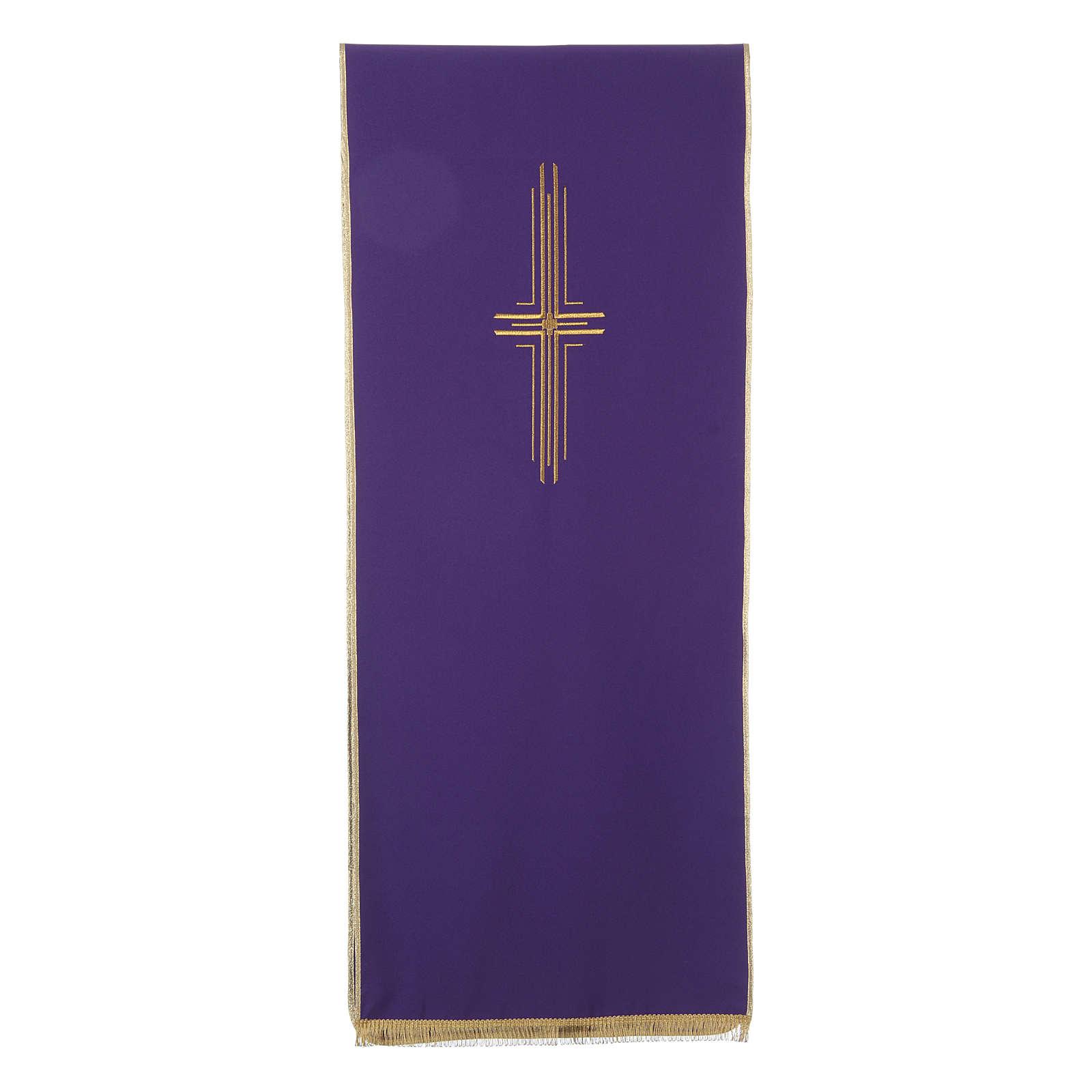 Pano para ambão 100% poliéster cruz estilizada 4