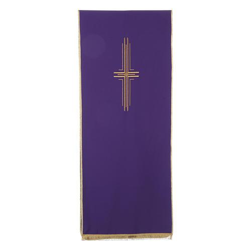 Pano para ambão 100% poliéster cruz estilizada 5