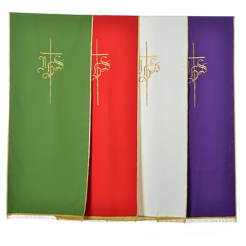 Lectern Cover in polyester with IHS and cross 1