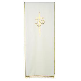 Voile de lutrin croix IHS 100% polyester s8