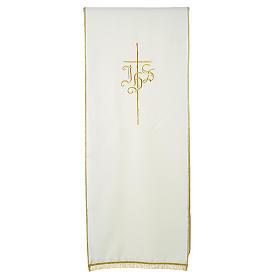 Voile de lutrin croix IHS 100% polyester s3