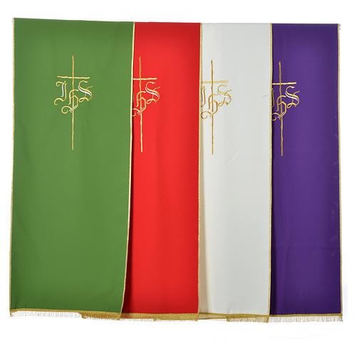 Voile de lutrin croix IHS 100% polyester 6