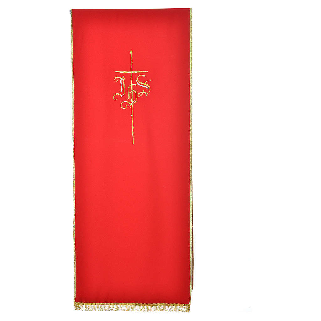 Pulpit cover with IHS and cross, polyester 4