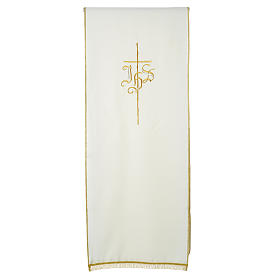 Pulpit cover with IHS and cross, polyester s8