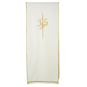 Pulpit cover with IHS and cross, polyester s3