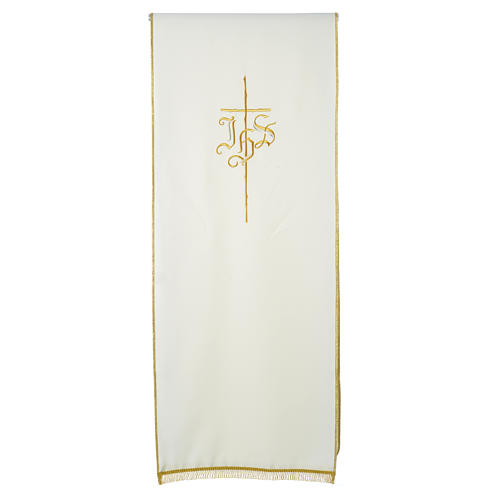 Pulpit cover with IHS and cross, polyester 8