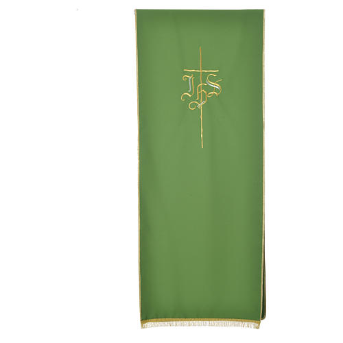 Pulpit cover with IHS and cross, polyester 10