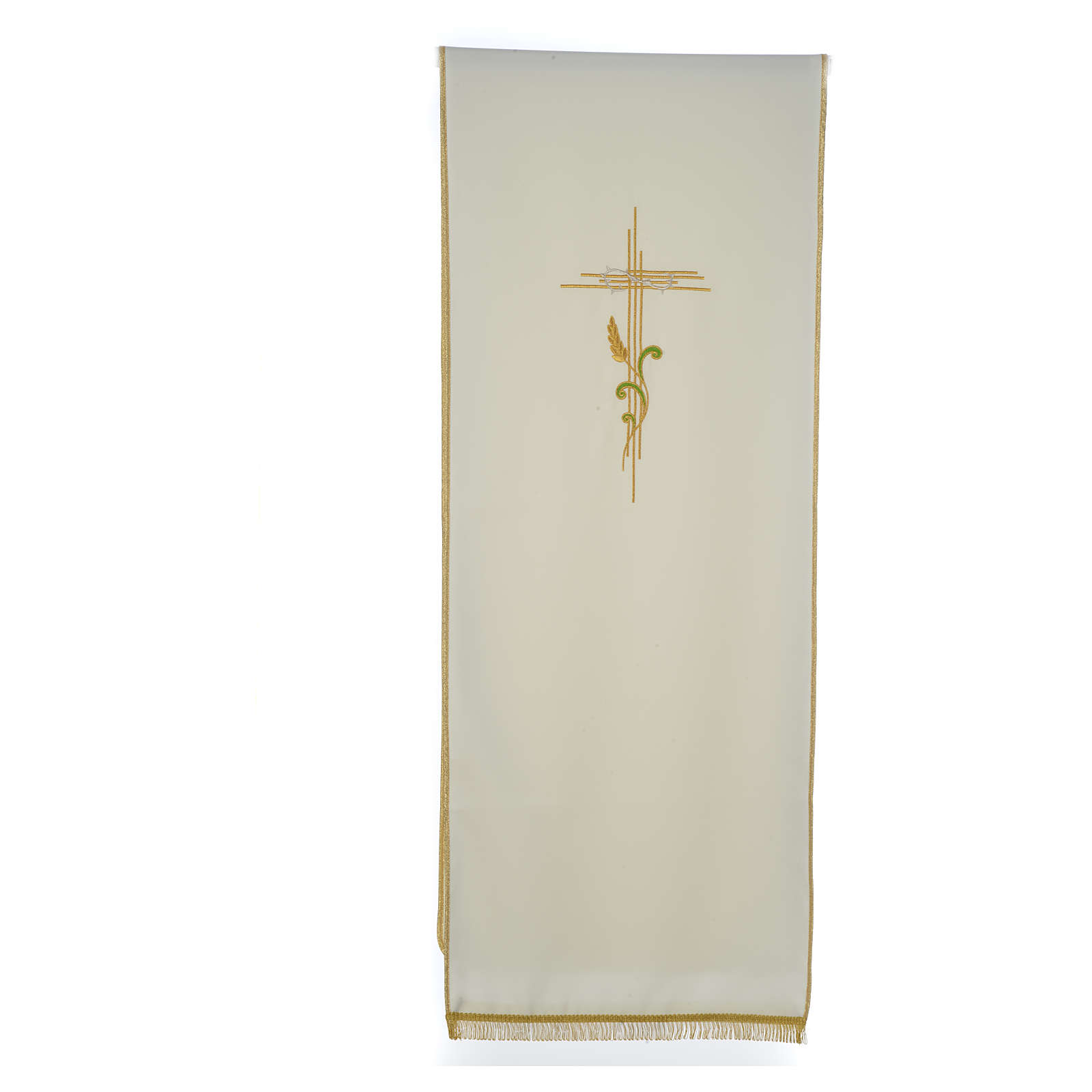 Lectern Cover in polyester, cross and intertwined ears of wheat 4