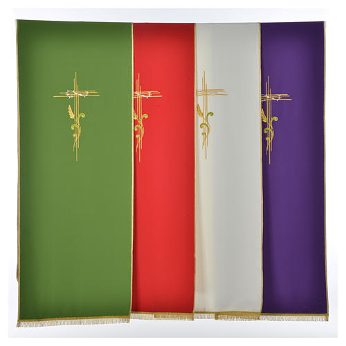 Lectern Cover in polyester, cross and intertwined ears of wheat 1