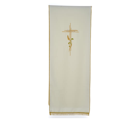 Lectern Cover in polyester, cross and intertwined ears of wheat 3