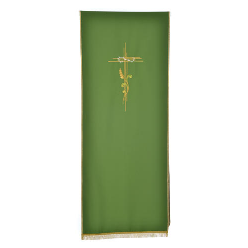 Lectern Cover in polyester, cross and intertwined ears of wheat 5