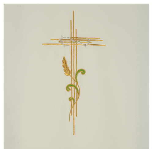 Lectern Cover in polyester, cross and intertwined ears of wheat 6