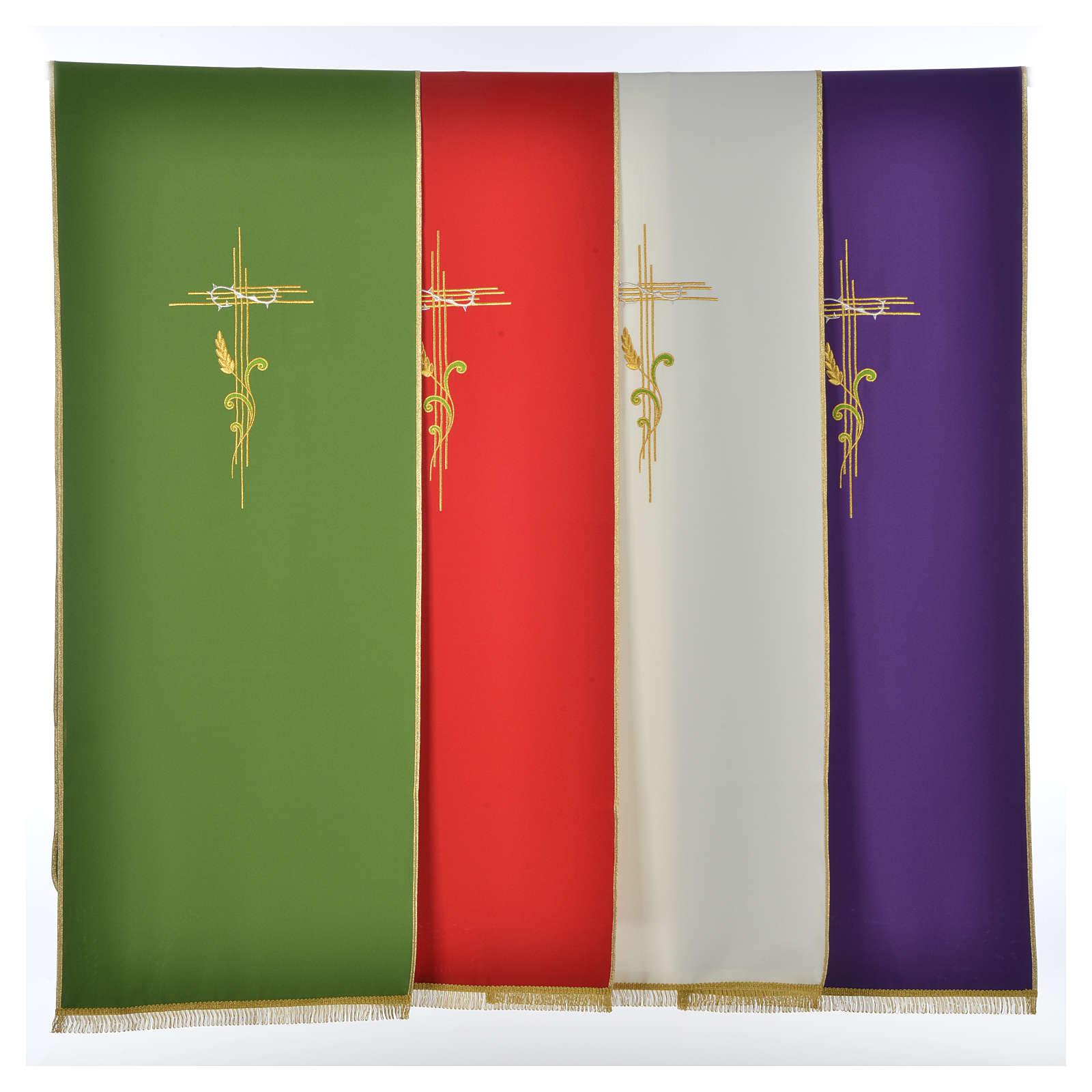 Voile de lutrin croix stylisée épis tressés 4