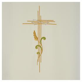 Voile de lutrin croix stylisée épis tressés s6